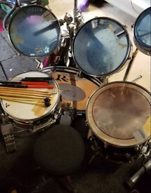 Drum kit Rogers XP-8 Series, cymbals and stands