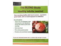 PARTICIPANTS WANTED FOR NUTRITION STUDY