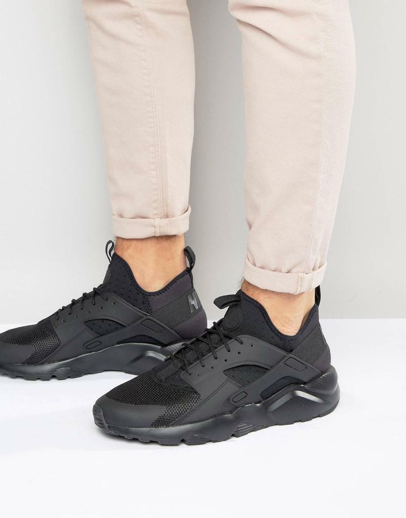 17e1e877b337 nike air huarache run ultra trainers black