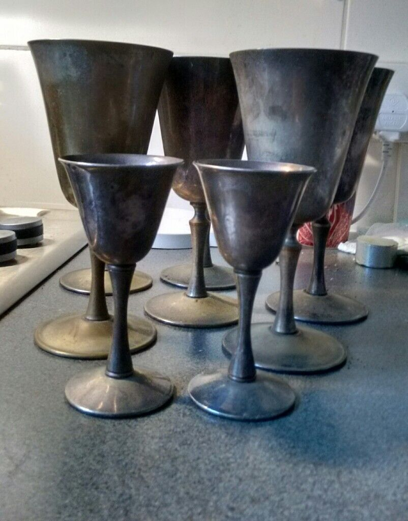 Antique Arthur Price Silver Plated Wine Goblets x6 & x2 | in Earlsfield, London | Gumtree