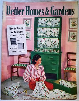 BETTER HOMES & GARDENS MAGAZINE JANUARY 1943 VINTAGE HOME DECORATING
