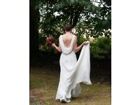 Immaculate Condition: Pronovias Uro Wedding Dress professionally cleaned