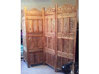Room Divider Screen Indian Hand Crafted in wood