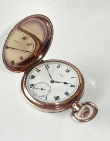 Rare Swiss Made Cyma 998 17 Jewel Gold Filled Full Hunter Pocket Watch c1920's.