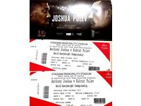 Anthony Joshua V Kubrat Pulev Boxing Tickets Lower Tier (L40) 2 tickets x 300 for the pair