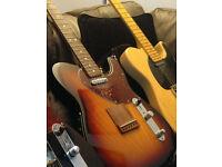 Fender Telecaster Acoustasonic. with fitted Fender hard case.
