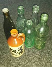 Old Antique Collectable Glass bottles