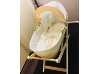 Moses basket with mattress & stand