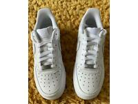Nike Women's Air Force Trainers - White, Size 5