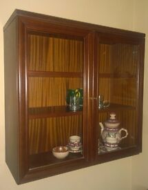 Glass wall cabinet - SOLD!