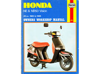 HAYNES HONDA NE & NB50 WORKSHOP MANUAL VISION MODELS 49CC