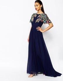 Beautiful Virgos Lounge Ariann Blue embellished maxi dress 12