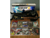 PS3 games + 2 guitars