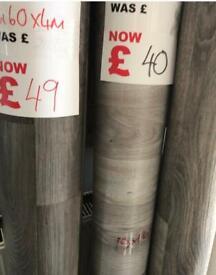 Grey vinyl flooring rollends