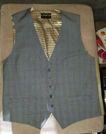 Ted Baker Grey with Blue check waistcoat and trousers £100
