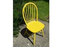 Painted Hardwood Stick-back Chair