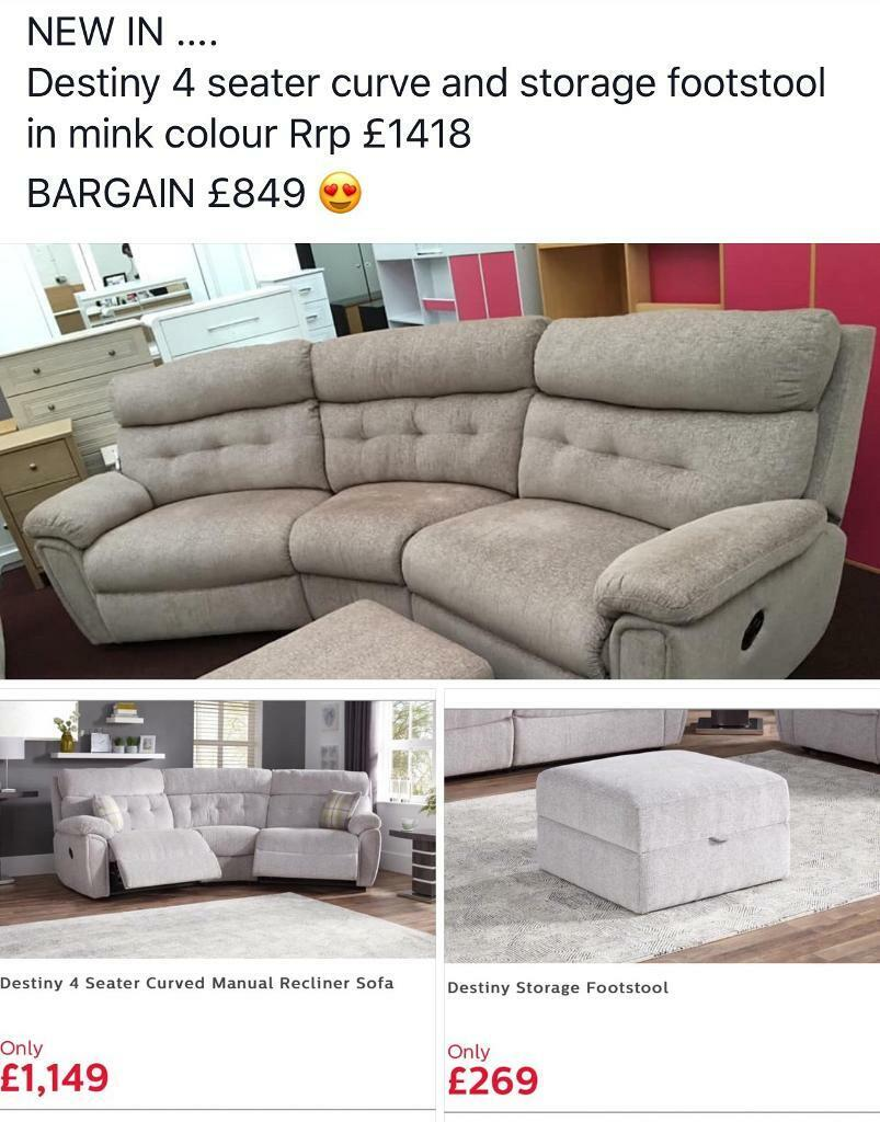 Astounding Brand New Destiny Curve With Storage Footstool 849 In Bridlington East Yorkshire Gumtree Pabps2019 Chair Design Images Pabps2019Com