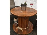 Rustic Cable Reel Table