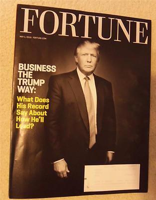 DONALD TRUMP in FORTUNE MAGAZINE MAY 1, 2016