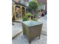 ⭐️🌴 Vintage Antique LARGE Cast Iron Enamel Trough Garden Plant Pot Pond 🌴⭐️