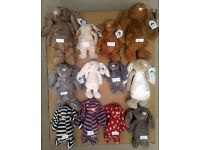 Collection of 12 rare Special Edition Jellycat bunny rabbits - 7 are new with tags