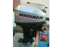 Mariner 15 hp outboard engine.