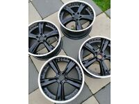 Alloy wheels 18inch fits bmw audi and vw