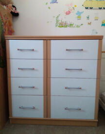 Stunning Two Tone Chest of Bedroom/Nursery drawers, Mint condition, Hendon NW4