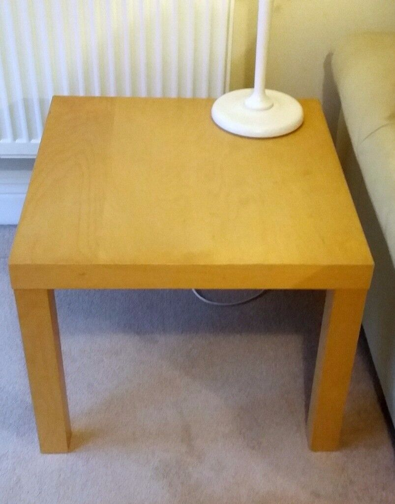 Ikea Beech Coffee Table Square