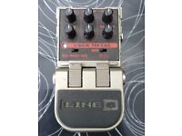 Line 6 Tonecore Uber Metal Distortion Guitar effects Pedal