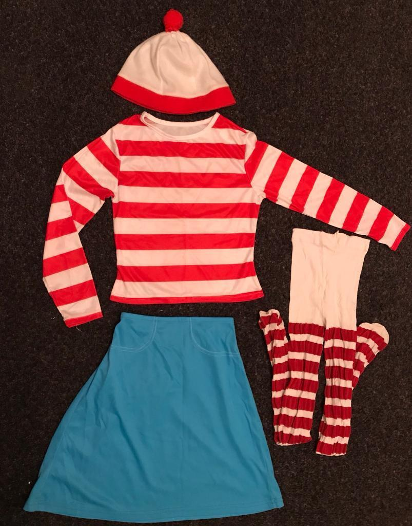 9b698f271d06 Where in Wally World Book Day Girls Costume Set Age 7-8 Years