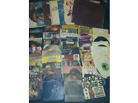 Roughly 50 various vinyl singles 5 lps £7 for all