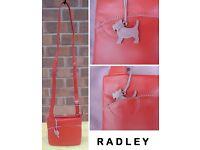 RADLEY - Small Red Leather Messenger Pocket Bag *RRP £89*