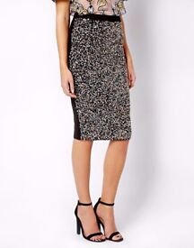 River Island Sequin Skirt Pencil Size 6