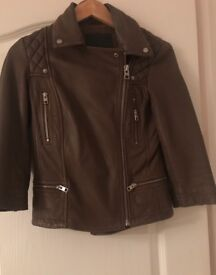 All saints leather jacket limited edition