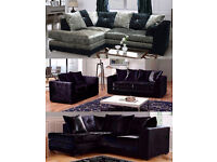 crushed velvet corner sofa or 3 and 2 sofas plus many more on offer call now to order