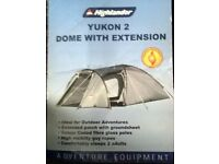 Used Highlander Yukon 2 Dome With Extension Tent