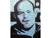 Original painting of Rory Best on Linen Canvas.