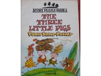 The Three Little Pigs Story Puzzle Books/book – post or collect