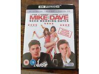 MIKE & DAVE NEED WEDDING DATES UHD 4K BLURAY & BLURAY & DIGITAL