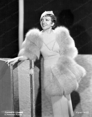 8x10 Print Claudette Colbert Fashion Portrait #1008810
