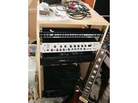 """19"""" Rack in MDF waist height very solid and smart for serious studio"""