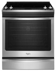 "Whirlpool YWEE760H0DS 30"" Electric Range 6.2 cubic ft, Self Clean, Convection"