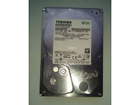 """Toshiba 3TB 3.5"""" SATA Hard Disk Drive Internal 7200 RPM Working Tested Securely Wiped"""