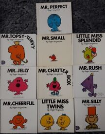 Ten Mr Men and Little Miss Books/book – post or collect