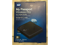 WD My Passport Wireless Pro 2TB Portable Hard Drive UK Seller *Brand New Sealed*