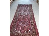 Persian Wool Handmade Rug Antique Carpet 10'x3' ft