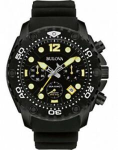 BULOVA MEN'S SEA KING UHF CHRONOGRAPH WATCH  98b243