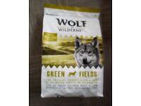 New 1kg of Dry Dog Food/kibble Wolf-of-Wilderness Grain Free - 61% meat