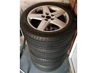 """Audi VW alloy wheels and tyres 17"""""""